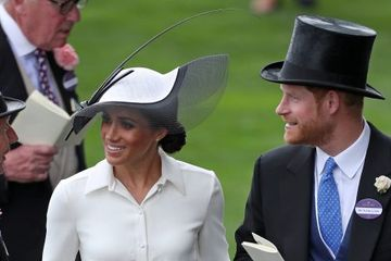 Meghan Markle stuns at Royal Ascot with new husband Prince Harry and The Queen