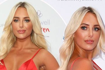 Amber Turner hits back at trolls who branded her 'pregnant' after show-stopping turn in red dress at Caudwell Children Butterfly Ball