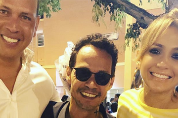 Jennifer Lopez reunites with ex husband Marc Anthony as she attends daughter Emme's dance recital with new boyfriend Alex Rodriguez