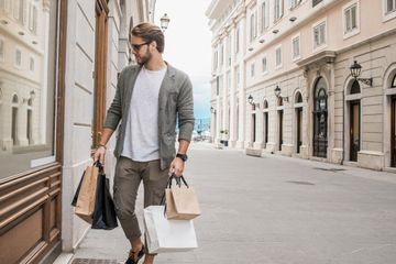 This explodes the myth that men don't like to shop