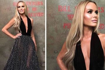 Amanda Holden dress BGT final: Braless Britain's Got Talent judge takes the plunge once again in couture Ali Karoui gown
