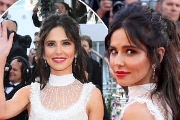 Cheryl dares to bare all at Cannes Film Festival making red carpet debut in revealing sheer gown