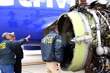 NTSB finds impact in shape of engine cover