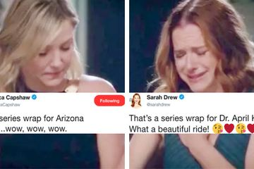 "Sarah Drew And Jessica Capshaw Just Wrapped Filming On ""Grey's Anatomy"" And I'm Emotional"