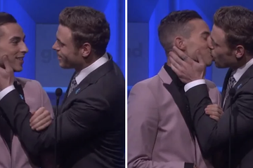 Adam Rippon And Gus Kenworthy Kissed On Stage At The GLAAD Media Awards And Wowowow