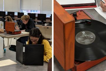 This Teen's Teacher Said No Phones In Class...So He Brought In A Record Player