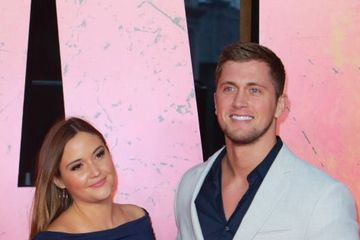 Pregnant Jacqueline Jossa reveals beautiful baby bump in tight dress on rare night out with husband Dan Osborne
