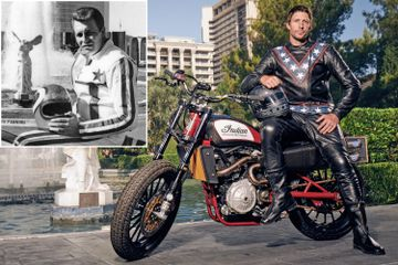 Daredevil hopes to best Evel Knievel with live motorcycle jumps