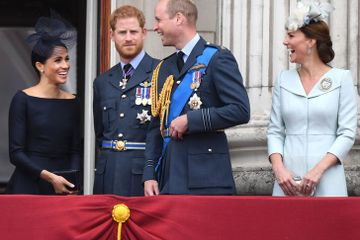 Meghan, Will, and Kate Crack Up as Harry Looks Like He's Been Left Out of the Joke