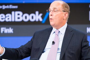 Prolonged Trade War Could Set Off a Market Slide, BlackRock's Fink Says