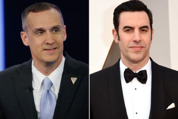 Corey Lewandowski doesn't take Sacha Baron Cohen's bait