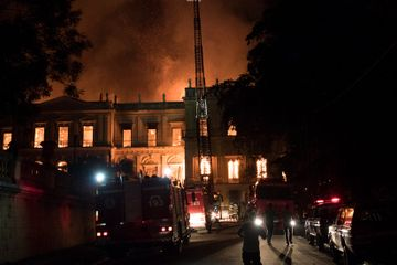 Fire Engulfs a Brazilian Museum, Threatening Hundreds of Years of History