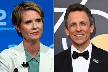 Cynthia Nixon talks Trump, Cuomo during 'Late Night' appearance