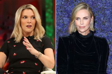 Charlize Theron dresses as Megyn Kelly on Roger Ailes movie set