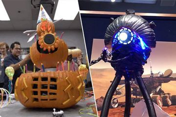 NASA engineers take pumpkin-carving to the next level (35 Photos)