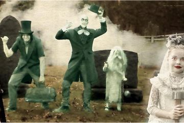 Neil Patrick Harris's Family Owns Halloween (Once Again!) as Disney's Hitchhiking Ghosts