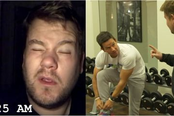 James Corden Gave Mark Wahlberg's 4 a.m. Workout a Go, and I'm Exhausted Just Watching It