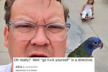"Andy Richter brilliantly shuts down woman who says ""depression is a choice"""