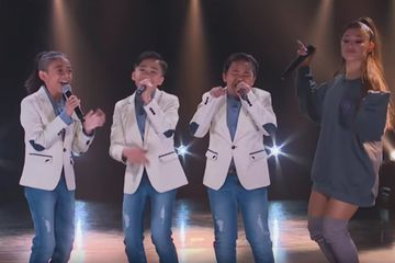 "Ariana Grande Surprises TNT Boys on Stage and Jokes ""You Guys Are So Incredible, It Makes Me Nervous!"""