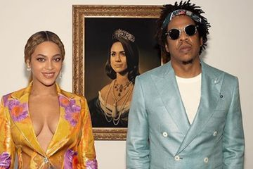 "Beyoncé and JAY-Z Accept Their Brit Award With an Ode to ""Melanated Mona"" Meghan Markle"