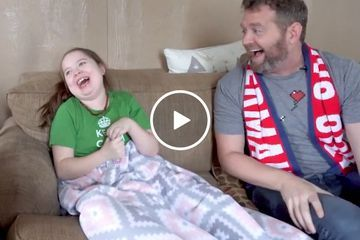 John's journey to Ohio to meet the incredible girl with only half a brain (Video)
