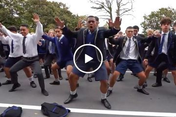 Students in New Zealand perform the Haka to honor the victims of the attacks (Video)