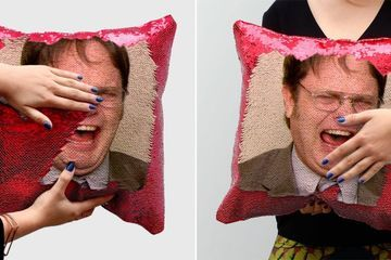 Dwight Schrute Sequin Pillows Are Here to Cure Your Office Withdrawals With Just 1 Swipe