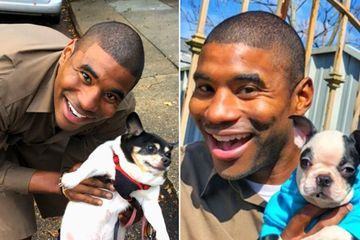"The Pups of ""Jay,"" New Orleans' favorite UPS driver (18 Photos)"