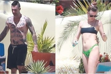 Adam Levine and Behati Prinsloo Beat the Heat With a Pool Day After His 40th Birthday