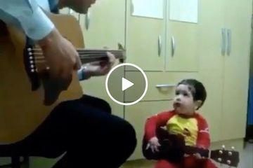 A father/son duo turns the cuteness knob to eleven (Video)