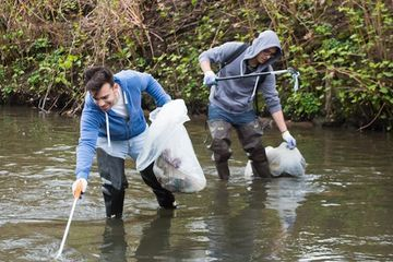 Plastic bottles are the most common litter in European waterways