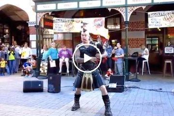 Aye, there's nothing more metal than AC/DC on a flaming bagpipe (Video)