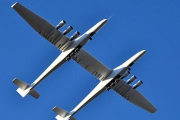 Stratolaunch, World's Largest Airplane by Wingspan, Takes Its First Flight