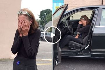 Daughter buys mom a new car and she can barely hold back tears (Video)