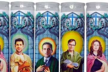 Are These Office-Themed Prayer Candles Necessary? Nope. Do I Still Want One? Absolutely.