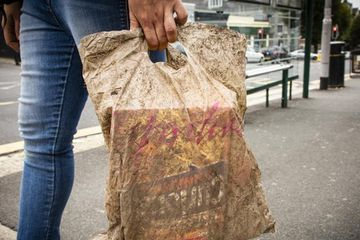 Here's what happens to 'biodegradable' bags after 3 years in the sea or soil