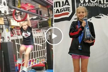 Meet Sky Ninja, 9-year-old Ninja League competition prodigy (Video)