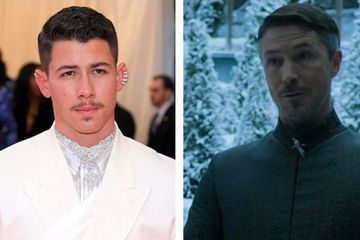 Nick Jonas Channeled Littlefinger at the Met Gala, and Sophie Turner Had Some Thoughts