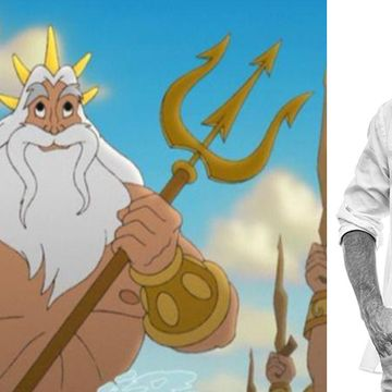 "This Silver Fox Is Literally King Triton From ""The Little Mermaid"""