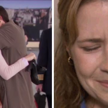 "This Is What Pam Said To Michael During The Airport Scene In ""The Office"""