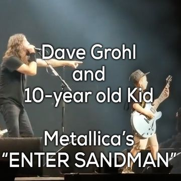 "Foo Fighters pulls 10-yr old on stage for a real ""Star is Born"" moment (5 GIFs/Video)"