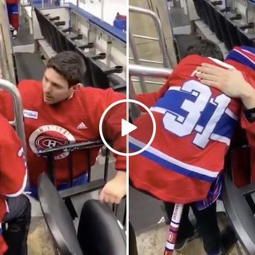 Habs goalie Carey Price comforts a kid who lost his mom (Video)