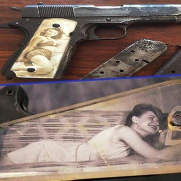 "WWII ""Sweetheart"" pistol grips made from wreckage of downed planes (28 Photos)"