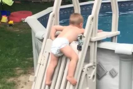 See Just How Fast A Toddler Was Able To Climb This Supposedly Safe Pool Ladder