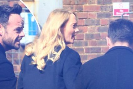 Pictures emerge of Ant McPartlin's personal assistant supporting presenter at police station for drink driving charge as pair 'find love' with each other