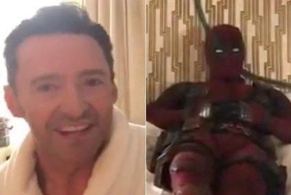 Ryan Reynolds Trolled Hugh Jackman Once Again, But This Time It Was From A Hotel Bed So I'm Very Jealous