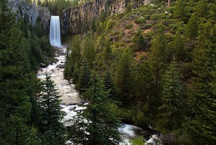 Photo: Tumalo Falls treats the forest to a show