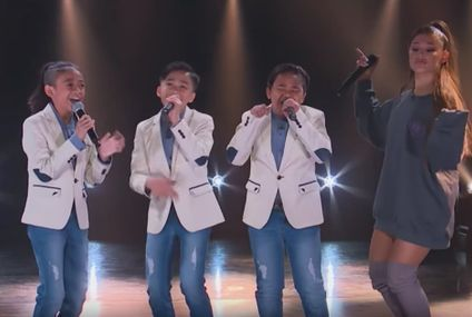 "Ariana Grande Surprises TNT Boys on Stage, Jokes ""You Guys Are So Incredible, It Makes Me Nervous!"""