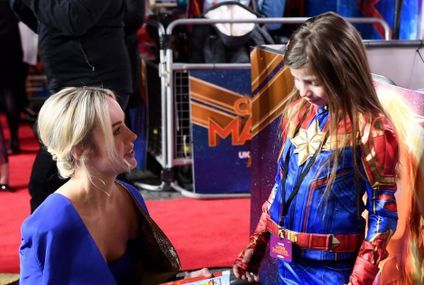 This Little Girl Who Dressed as Captain Marvel and Interviewed Brie Larson Is Now My Hero