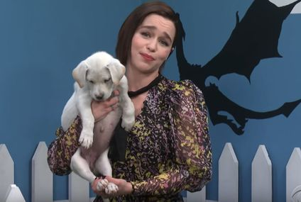 Would You Say No to Khaleesi? Emilia Clarke Finds Homes for Puppies, Game of Thrones Style